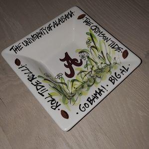 University of Alabama Hand Painted serving dish